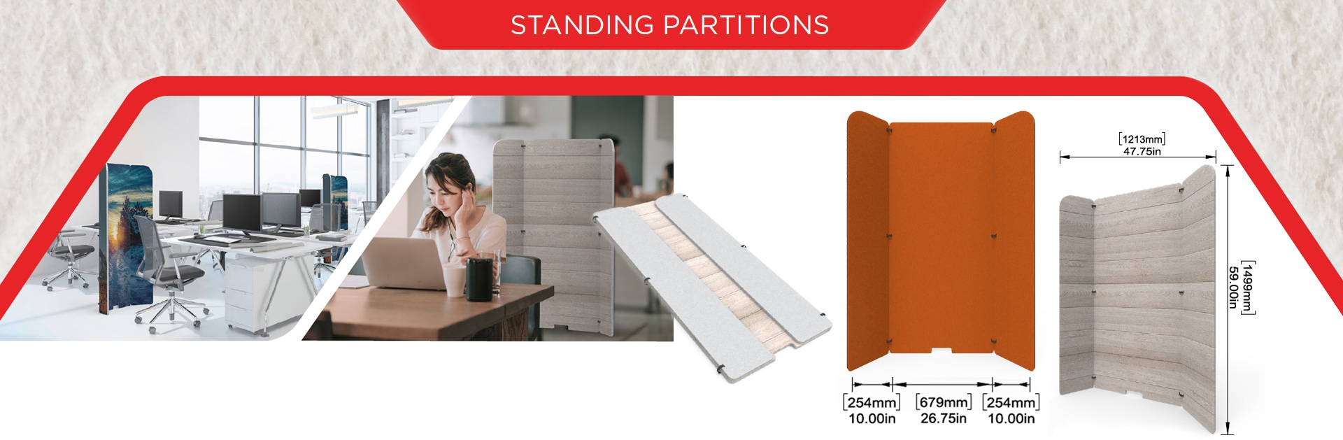 Standing partitions